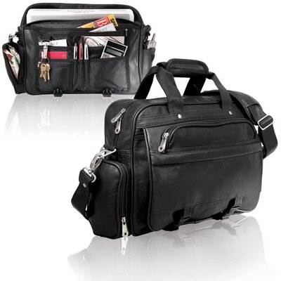 U.S. Traveler Business Messenger Briefcase in Black