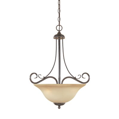 Stratton 3 Light Inverted Pendant