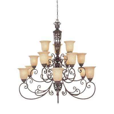 Designers Fountain Amherst 15 Light Chandelier
