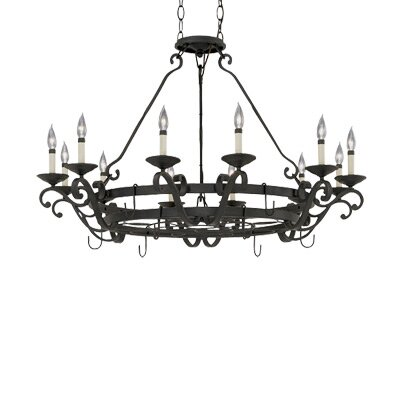 Designers Fountain Messina 12 Light Chandelier Pot Rack
