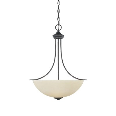 Montego 3 Light Inverted Pendant