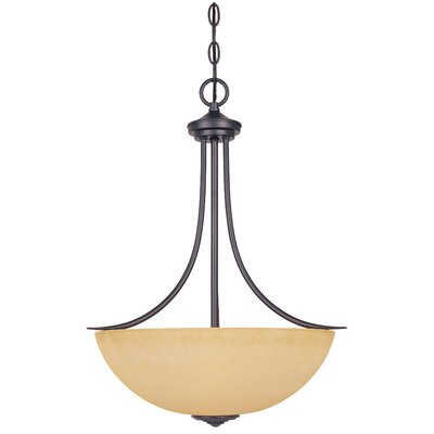 Madison 3 Light Inverted Pendant