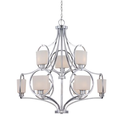 Designers Fountain Mirage 9 Light Chandelier