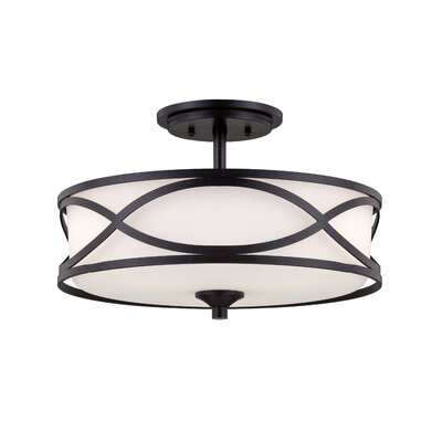 Designers Fountain Bellemeade 3 Light Semi-Flush Mount