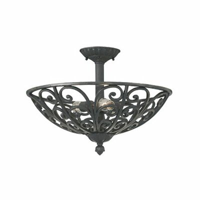 <strong>Designers Fountain</strong> Toledo Semi Flush Mount