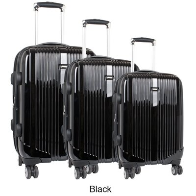 J World Concord 3 Piece Polycarbonate Expandable Spinner Luggage Set