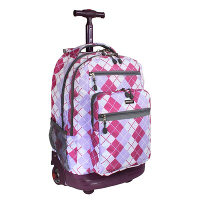 J World Sundance Rolling Backpack with Laptop Sleeve