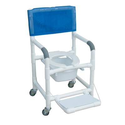 MJM International Standard Deluxe Shower Chair with Folding Footrest and Optional Accessories