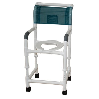 MJM International Standard Deluxe Adjustable Height Shower Chair with Optional Accessories