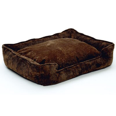 Jax & Bones Corduroy Lounge Dog Bed in Chocolate Cord