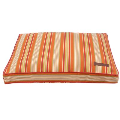 Jax and Bones Mandarine Rectangular Dog Pillow