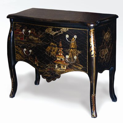AA Importing Oriental Landscape 2 Drawer Chest