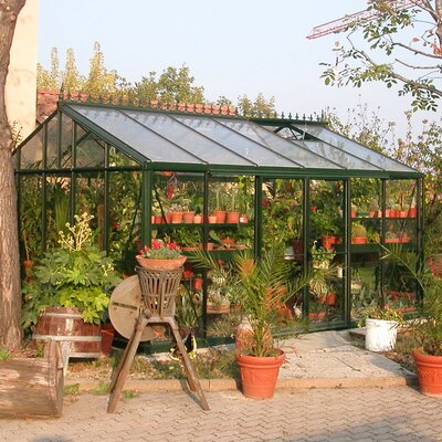 "Janssens of Belgium Royal Victorian 8' 6"" H x 13.0' W x 20.0' D Glass Greenhouse"