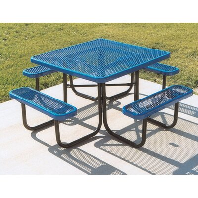 Ultra Play Square Picnic Table with Diamond Pattern