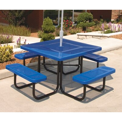 Ultra Play Square Picnic Table with Perforated Pattern