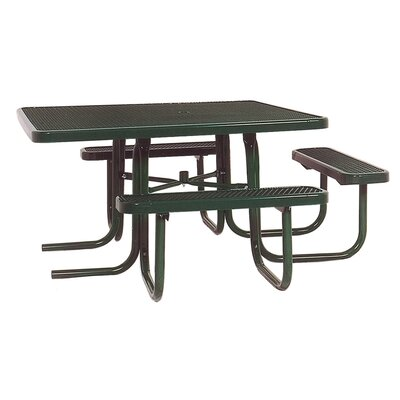 Ultra Play 3-Seat ADA Square Picnic Table with Diamond Pattern