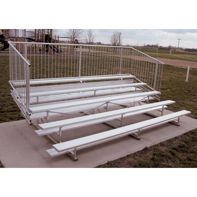 Ultra Play Five-Row Aluminum Bleacher with Guardrails
