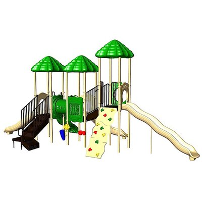 Ultra Play UPlay Today UP & Away with Crawl Tunnel & Deluxe Rock Climbing Wall with Vine Climber