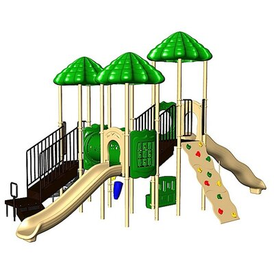 Ultra Play UPlay Today UP Top with Crawl Tunnel & Deluxe Rock Climbing Wall with Ultra Mountain Climber