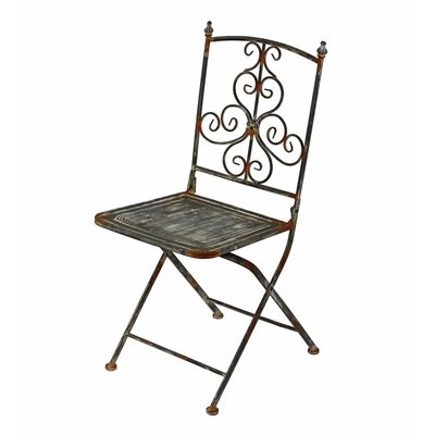 Privilege Iron Scroll Folding Chair