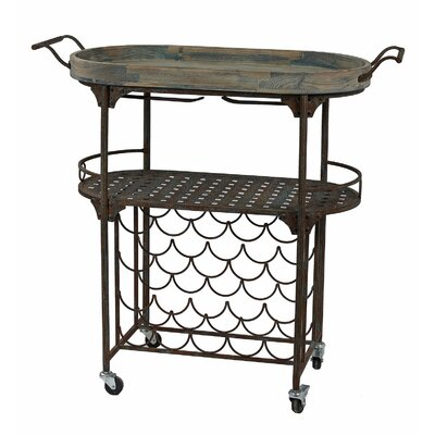 Privilege Iron and Wood Wine Rack