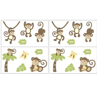CoCo & Company Monkey Time Wall Decal