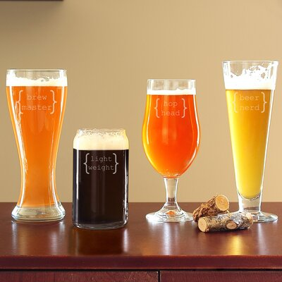 4 Piece Specialty Beer Glasses Set