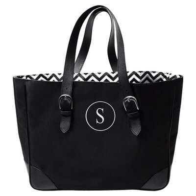 Buckle Tote Bag with Circle Monogram