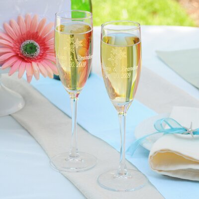 Cathys Concepts Beach Wedding Toasting Flutes