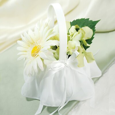 Elegant Chiffon Flower Girl Basket