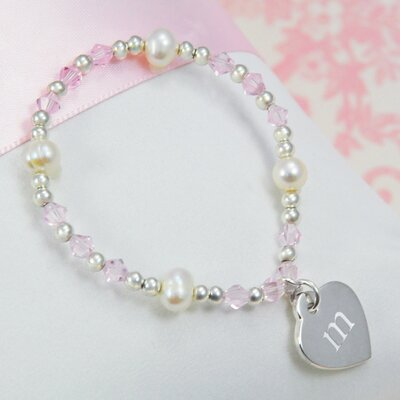Cathys Concepts Little Girl's Heart Charm Bracelet
