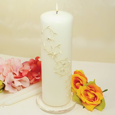 Cathys Concepts Wedding Sparkling Entwined Unity Pillar and Taper Candles (Set of 3)