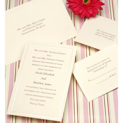 Cathys Concepts Pearl Border Ivory Invitation Kit