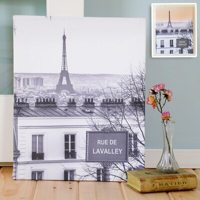Love in Paris Photographic Print on Canvas