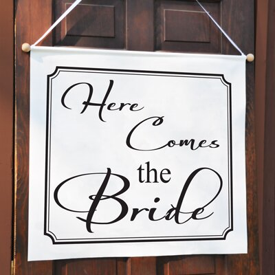 Cathys Concepts Here Comes the Bride Custom Wedding Banner