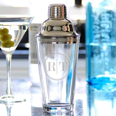 Personalized Cocktail Shaker with Two Block Initials