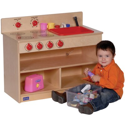 Steffy Wood Products Toddler 2-in-1 Kitchen Unit