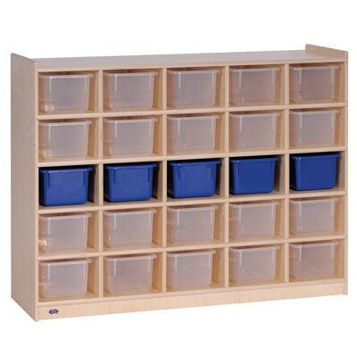 Steffy Wood Products 25-Tray Mobile Cubicle Unit