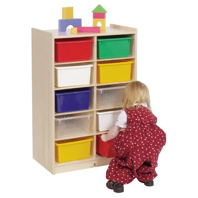Steffy Wood Products 10-Tray Storage Unit