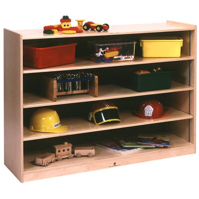Steffy Wood Products Mobile Adjustable Shelf Storage Unit