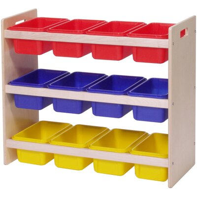 Steffy Wood Products Dowel Tray Storage Rack with Trays