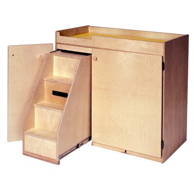 Steffy Wood Products Changing Table with Slide-Out Steps