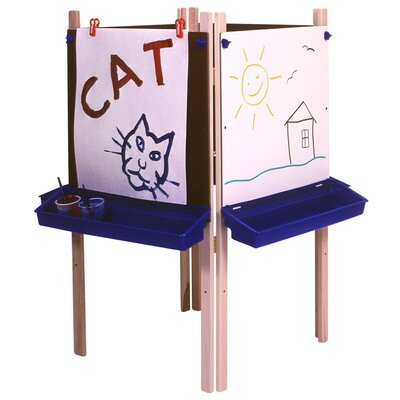 Steffy Wood Products Four Station Adjustable Easel