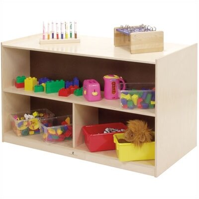 Steffy Wood Products Double Sided Mobile Storage Unit