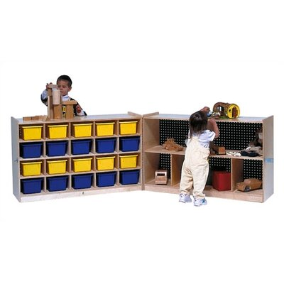 Steffy Wood Products 20-Tray Fold and Lock Mobile Storage Unit
