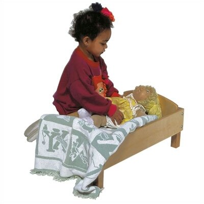 Steffy Wood Products Maple Doll Bed