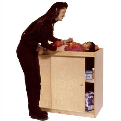 Steffy Wood Products Complete Changing Table with Plywood Doors