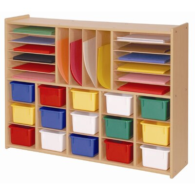 Steffy Wood Products Multi-Section Storage with Tray