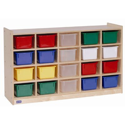 Steffy Wood Products 20 Tray Cubby Storage
