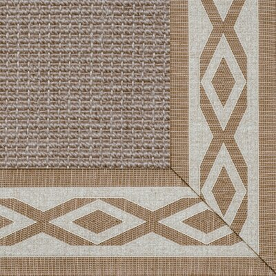 Paradise Retreat Jumbo Boucle Honey Wheat Bordered Rug